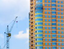 New Home. Construction site with crane Stock Image