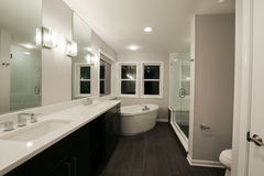 New Home Bathroom. Image of interior detail of a new home bathroom Stock Photography
