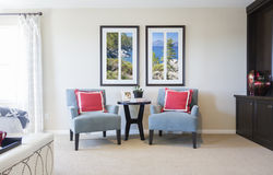 New Home Bedroom Sitting Area Royalty Free Stock Image