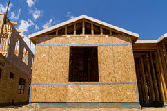New home being built. Stock Photos
