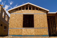 New home being built. Royalty Free Stock Photos