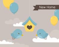 New Home Birds vector illustration