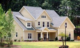 New Home Building. PHtographed a new home for sale in Georgia Royalty Free Stock Image