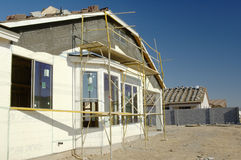 New home construction. New home being built in a residential area Stock Image