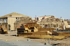 New home construction. New home being built in a residential area Stock Photos