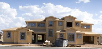 New home construction. New home under construction stock photography
