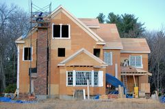 New Home Construction. General contractor builds a new house royalty free stock image
