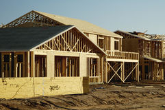 New Home Construction. Home construction in a new residential development Stock Image