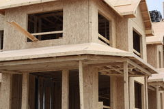 New Home Construction. Showing the exterior Stock Photography