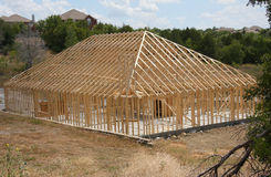 New home construction in community. New home construction in suburban community Royalty Free Stock Image