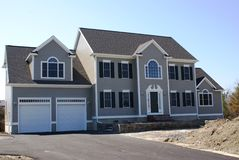 New home construction. A new house under construction in the suburbs Stock Images