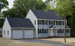 New home construction. A new house under construction in the suburbs Royalty Free Stock Image