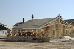New home construction. New home being built in a residential area Royalty Free Stock Photography