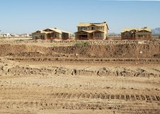New home construction. New home being built in a residential area Stock Photo
