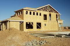 New Home Construction 4. Details of new home construction in a new residential development in Arizona Stock Images