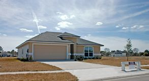 New home construction 5. Newly constructed home ready to move in Stock Photography