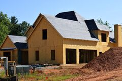 New home construction Stock Photography