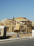 New home construction. New home being built in a residential area Royalty Free Stock Photos