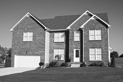 New home construction B & W Royalty Free Stock Photo
