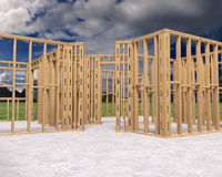 New Home Construction, Building, Illustration Royalty Free Stock Photo