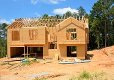 New home construction Royalty Free Stock Images