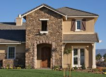 New Home Construction Facade royalty free stock images