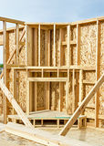 New home construction fireplace Stock Photo