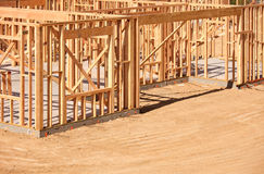 New Home Construction Framing Stock Image