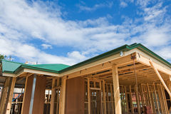 New home construction framing Royalty Free Stock Photography