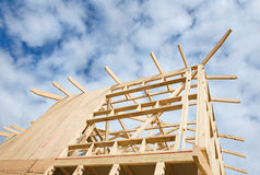 New home construction framing. Royalty Free Stock Image