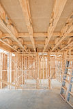 New home construction framing. Royalty Free Stock Photography