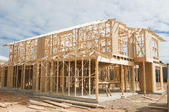 New home construction framing. Stock Photos