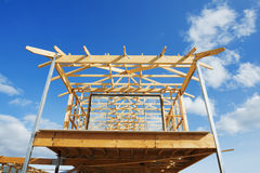New home construction framing. Stock Image