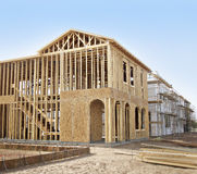 New home construction framing Royalty Free Stock Photos