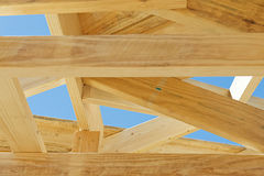 New home construction framing.Fragment. Stock Images