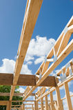 New home construction framing.Fragment. Royalty Free Stock Images