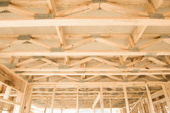 New home construction framing.Fragment. Stock Photo
