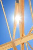 New home construction framing. Fragment. Stock Image