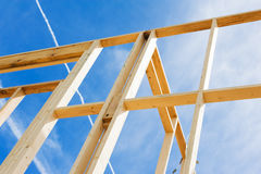 New home construction framing. Fragment. Stock Images