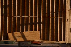 New Home Construction Framing In The Southwest. stock images
