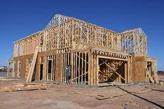 Free New Home Construction Framing In The Southwest. Royalty Free Stock Images - 119650079