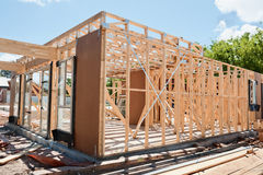 New home construction framing Stock Photos