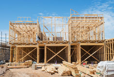 New home construction framing. Royalty Free Stock Photos