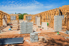 New home construction framing. Royalty Free Stock Images