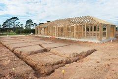 New home construction framing. Stock Photo