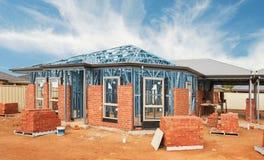 New home construction framing stock photos
