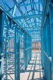 New home construction framing. Royalty Free Stock Photo