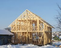 New home construction framing royalty free stock images