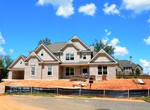 New home construction at Georgia Stock Photography