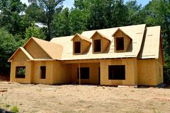 New home construction in Georgia, USA Stock Image